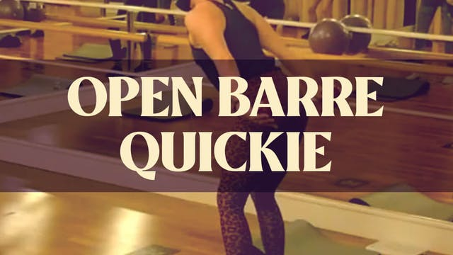 Open Barre Quickie with Kyla - LIVE D...