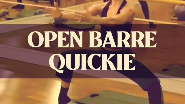 Open Barre with Katie G. - LIVE March...