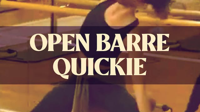 Open Barre Quickie with Katie G. - LI...