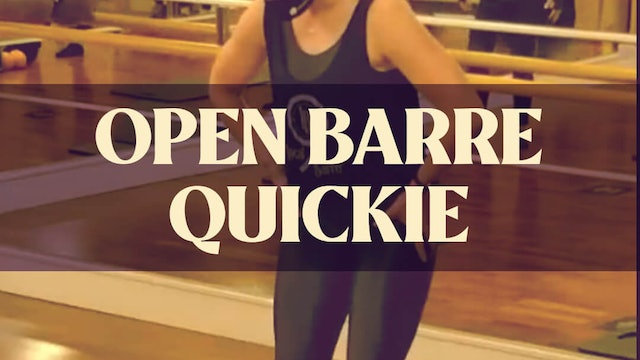 Open Barre Quickie with Kyla - LIVE January 23, 2021