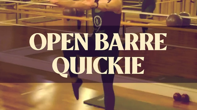 Open Barre Quickie with Kyla at 8:45 AM