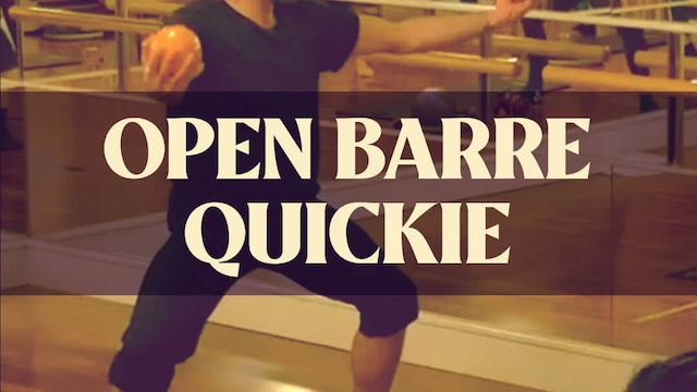 Open Barre Quickie with Joan - LIVE April 26, 2021