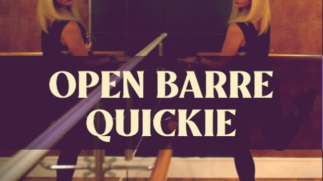 Open Barre Quickie with Kyla - LIVE on January 9, 2021