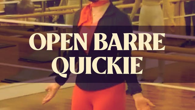 Open Barre Quickie with Kyla - LIVE F...
