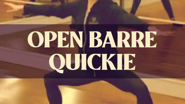 Open Barre Quickie with Katie - LIVE March 7, 2021