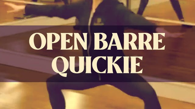 Open Barre Quickie with Katie - LIVE ...