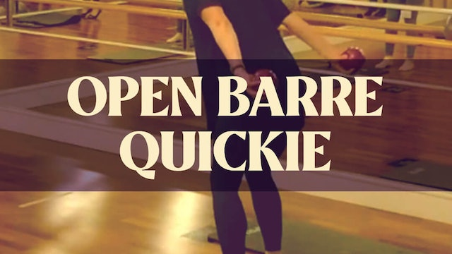 Open Barre Quickie with Kyla - LIVE on January 2