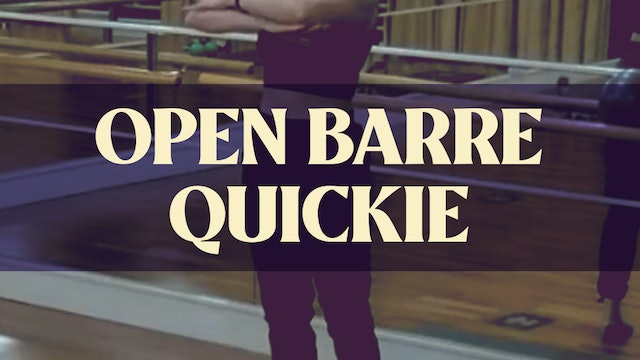 Open Barre Quickie with Kyla - LIVE November 28, 2020