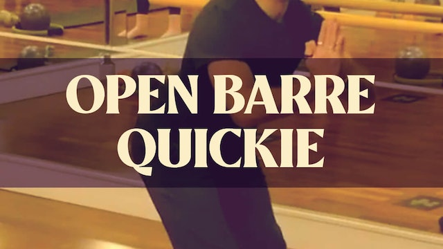 Open Barre Quickie with Joan - LIVE April 19, 2021