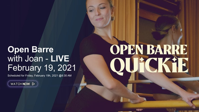 Open Barre Quickie with Manon - LIVE February 19, 2021
