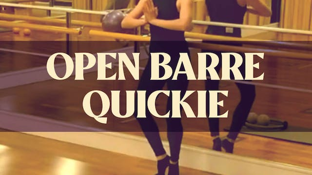 Open Barre Quickie with Manon - LIVE ...