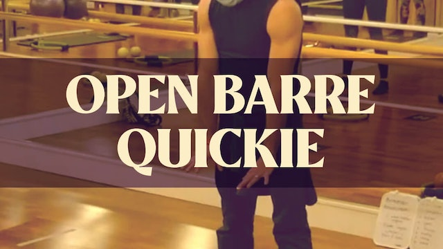 Open Barre Quickie with Joan - LIVE February 5, 2021