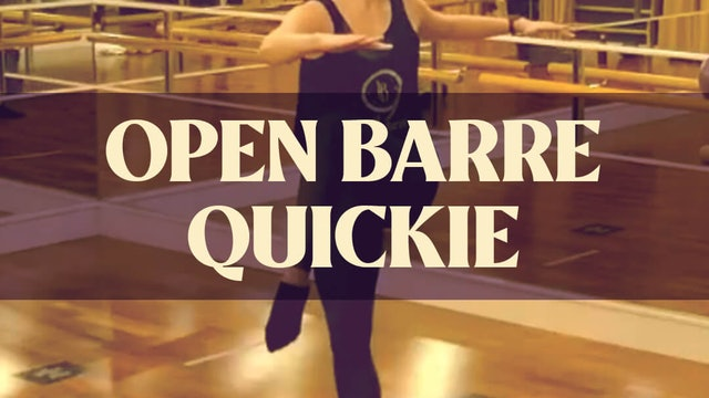 Open Barre Quickie with Kyla - LIVE on December 29, 2020