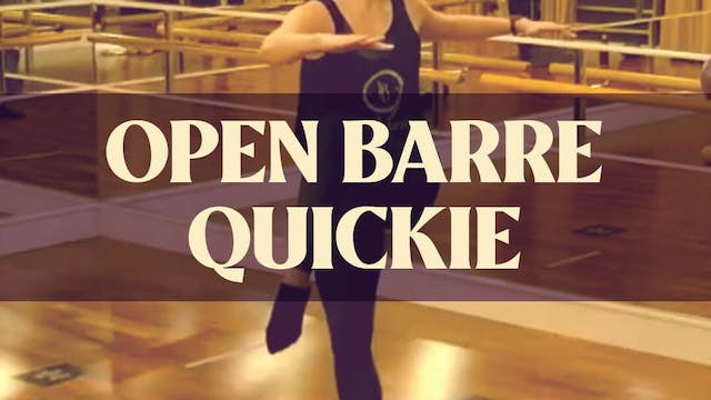 Open Barre Quickie with Kyla - LIVE o...