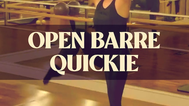 Open Barre Quickie with Kyla - LIVE January 16