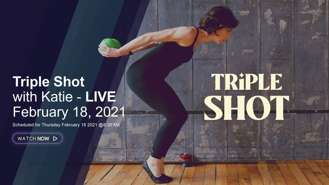 Triple Shot with Manon - LIVE February 18, 2021