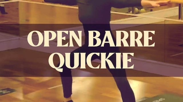 Open Barre Quickie with Manon - LIVE March 12, 2021