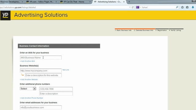 Yellow Page Directory Listings