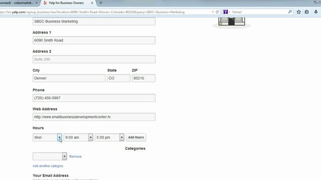 Yelp Directory Listings