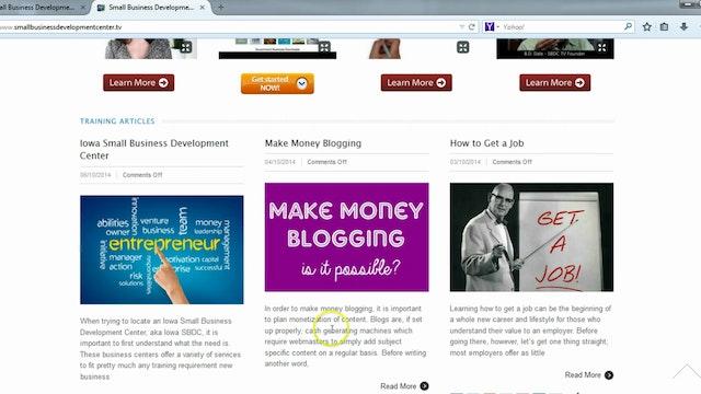Final Business Website Tweaks