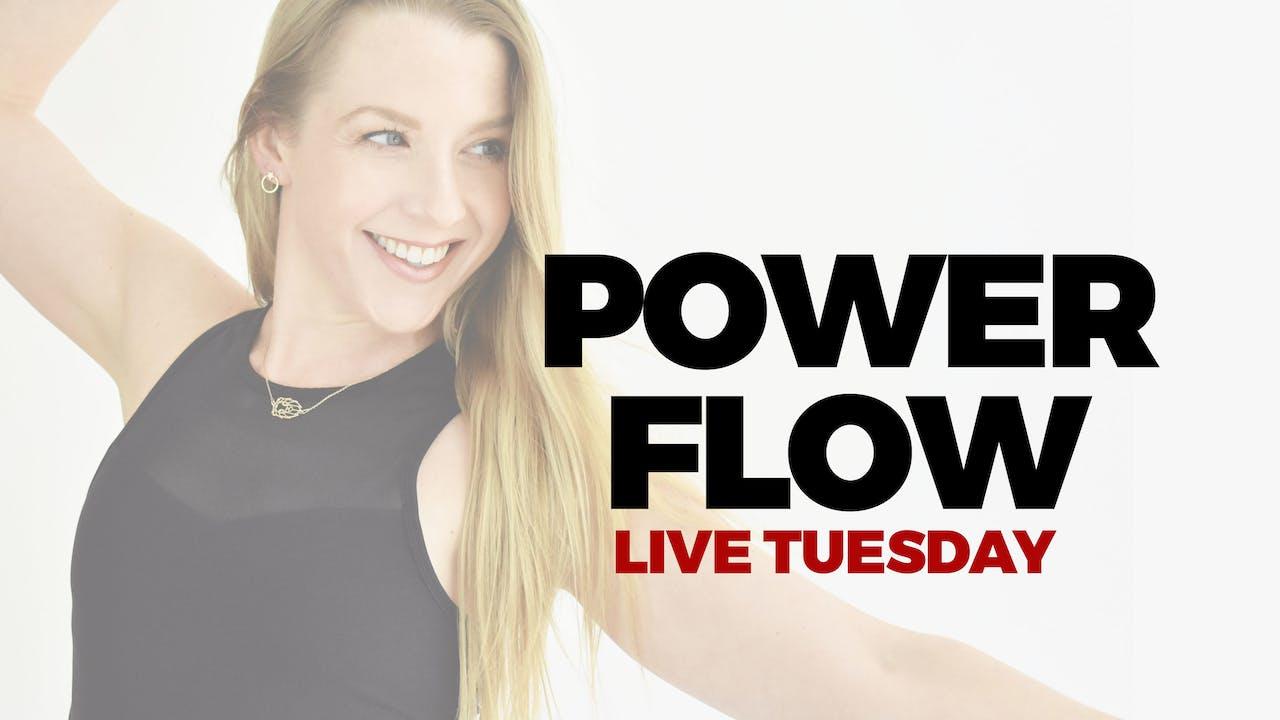 6.15 - DROP IN LIVE 5 PM ET - 60 MIN POWER FLOW