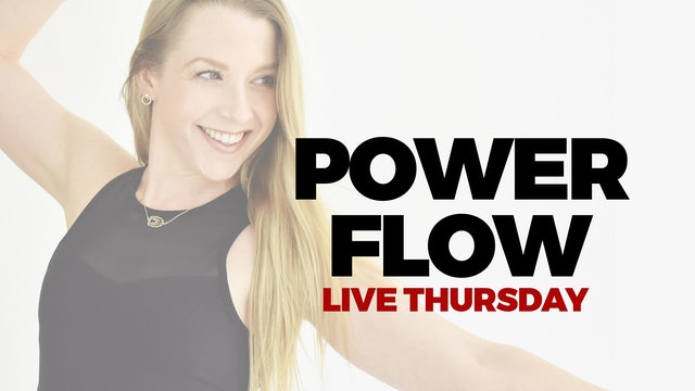 OCTOBER 21 - LIVE 5 PM ET - 60 MIN POWER FLOW WITH MARYALLISON