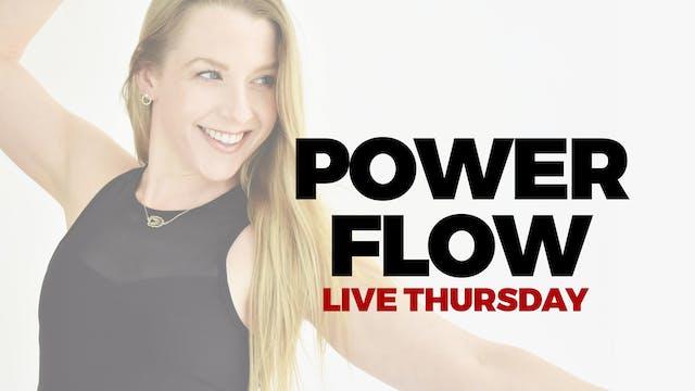 3.4 - DROP IN LIVE 5:00 PM ET - 60 MIN POWER FLOW