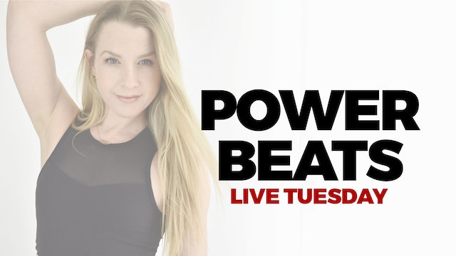4.6 - RECORDED LIVE 12 PM ET - 45 MIN POWER BEATS WITH BETHANY
