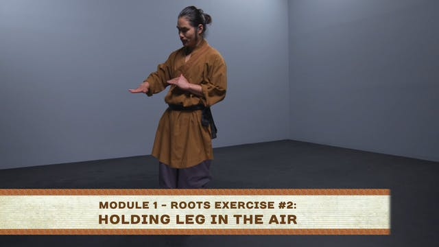 Roots Exercise #2: Holding Leg in the Air