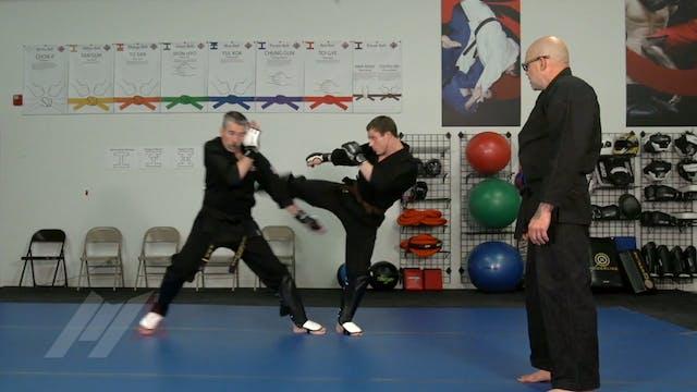 John Hackleman - Leg Catch Kick Defense