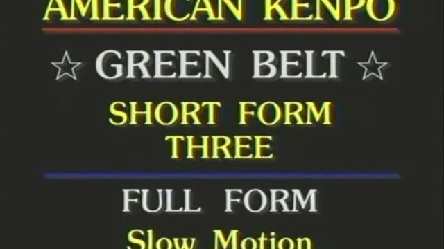 Mohamad Tabatabai - Green Belt Short Form 3, Coordination Set 2