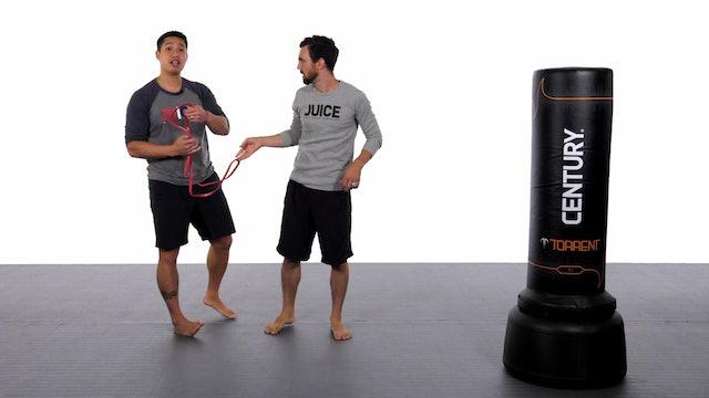 Jason Han - Fast Kick Drill with Band - Part 1