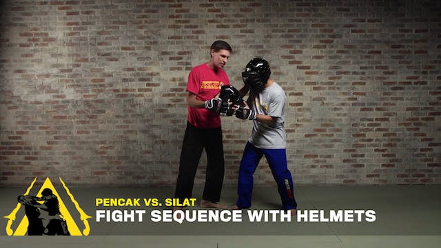 Pencak vs. Silat / Fight Sequence With Helmets