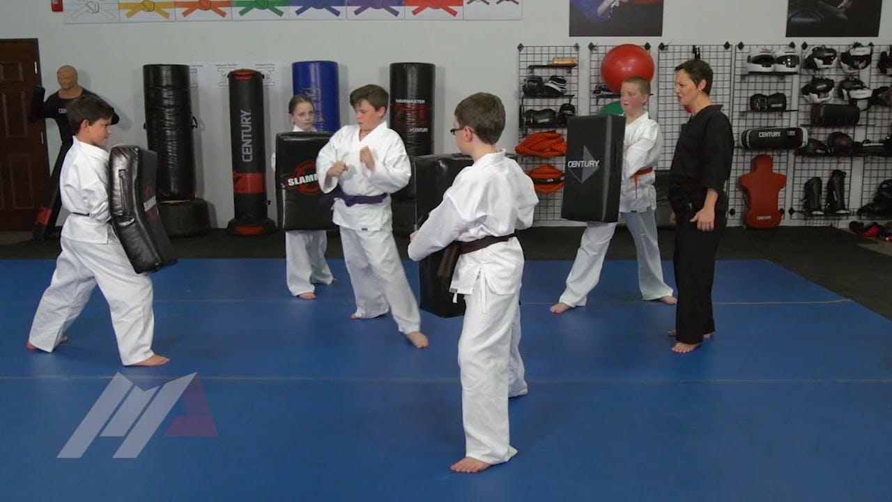 Michael Kramp Walk The Line Kids Drills Martial Arts Drills