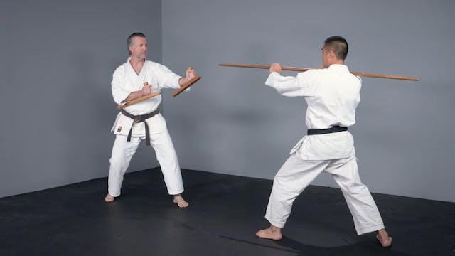 Tonfa: One-Point Sparring Tonfa vs. Bo