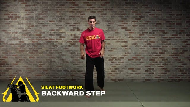 Silat Footwork: Backward Step