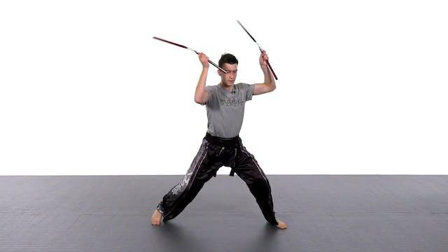 Danny Etkin - 4 Basic Nunchaku Strikes