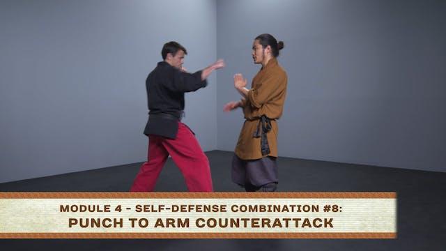 Self-Defense Combination #9: Kick to Neck Counterattack