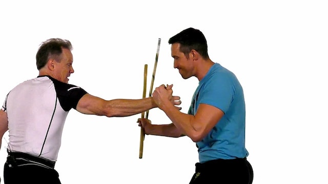 Dave Kovar - Single Stick Disarm - Part 2 - Backhand