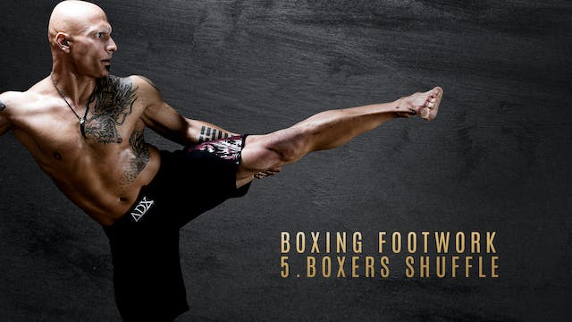 Boxing Footwork 5. Boxers Shuffle