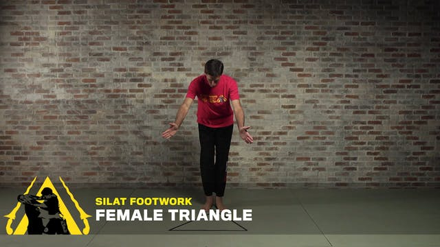 Silat Footwork: Female Triangle