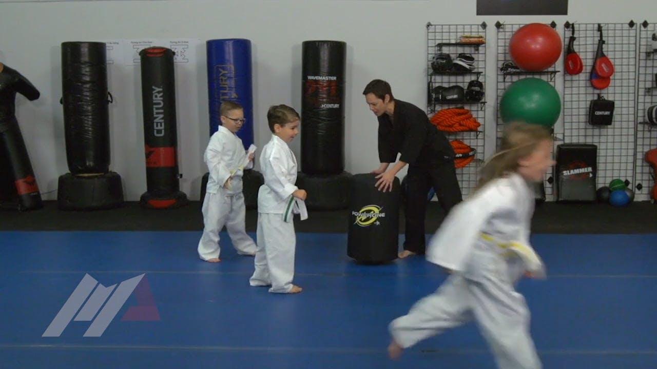 Michael Kramp Light Saber Sit Ups Kids Drills Martial Arts Drills