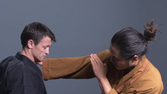Self-Defense Combination #7: Punch to Throat Strike