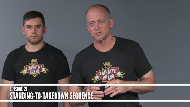 21 Standing-to-takedown sequence