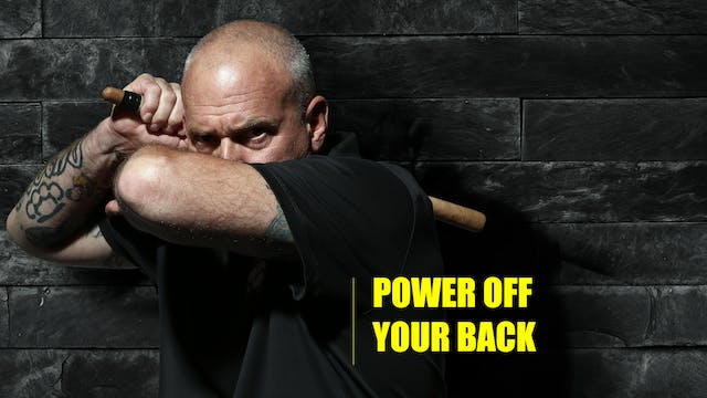16 Power off your back