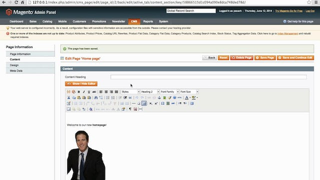 untitledMagento Mechanics - Lesson 03: How to change the homepage and add your own content!