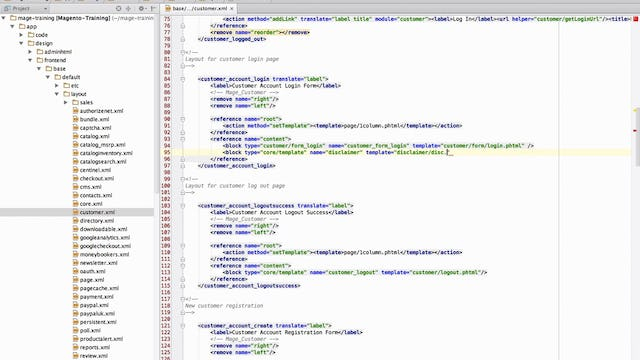 Magento Mechanics: Lesson 09 - How to add custom template to any page on your site