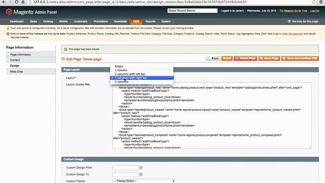 Magento Mechanics: Lesson 11 - How to change page columns