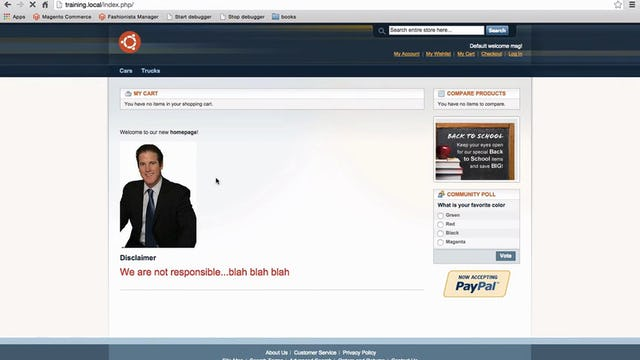 Magento Mechanics - Lesson 17: How to add custom link to header or footer of any page