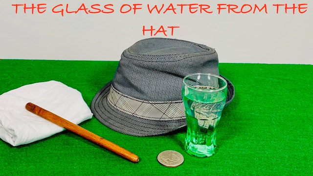 VICTOR PEACOCK'S GLASS, HAT & CHAIR